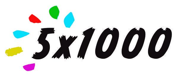 5 x 1000 a di tutti i colori
