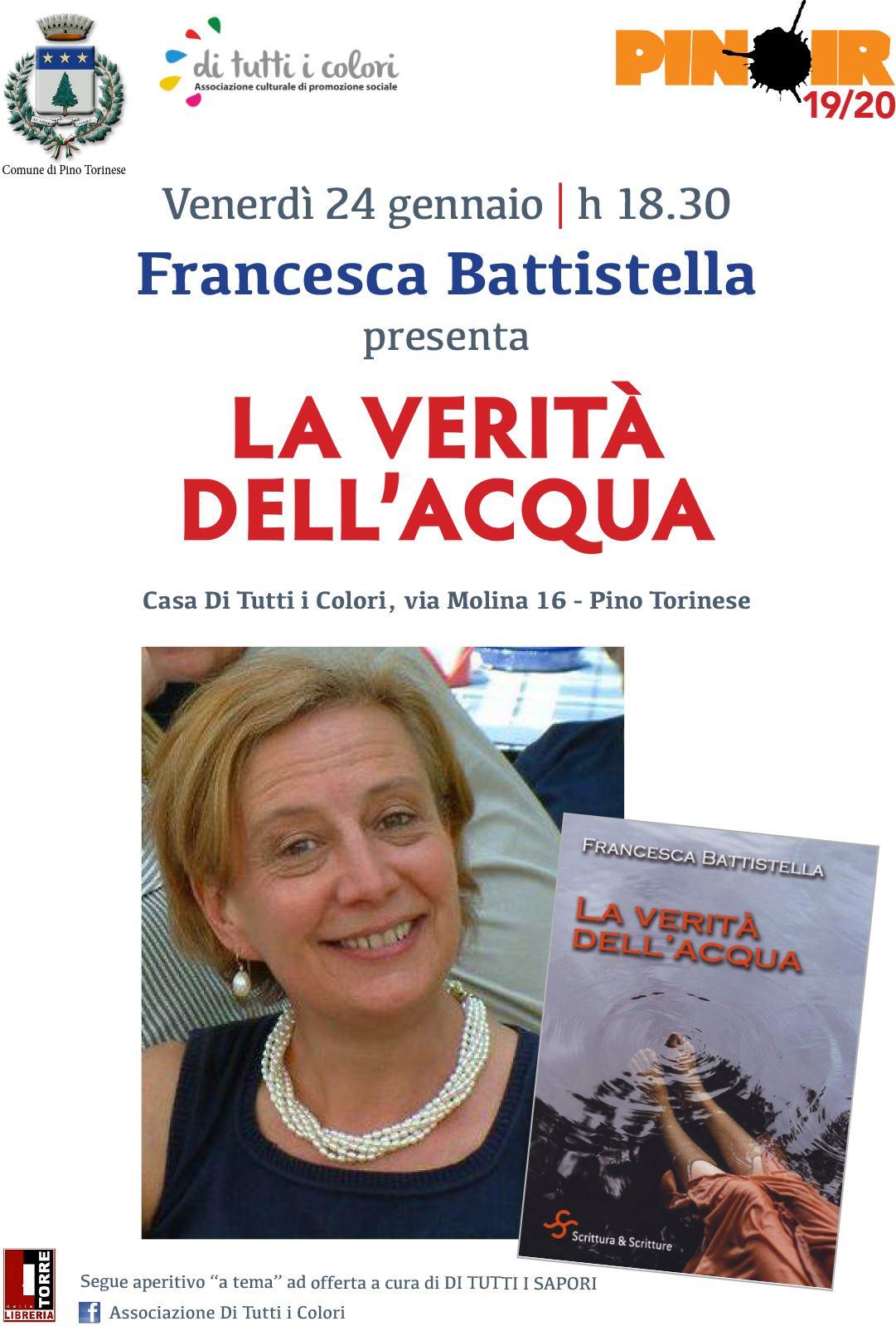 """Francesca Battistella presenta """"La verità dell'acqua"""" - di tutti i colori"""