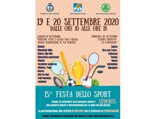 Festa dello Sport – 19/20 Settembre 2020